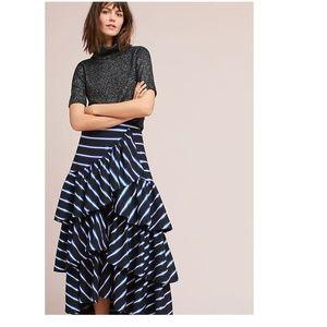 Anthropologie Maeve  Iris Striped Skirt